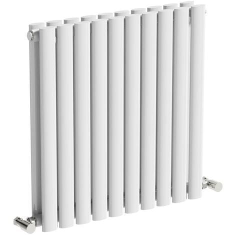 The Heating Co. Salvador white double horizontal radiator 600 x 1000