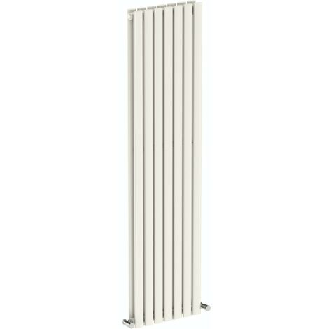 The Heating Co. Salvador white double vertical radiator 1600 x 406