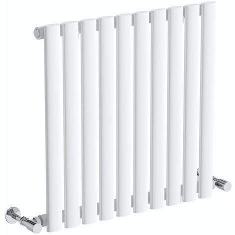 The Heating Co. Salvador white single horizontal radiator 600 x 1000