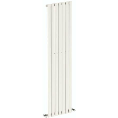 The Heating Co. Salvador white single vertical radiator 1600 x 406