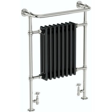 The Heating Co. Santa Fe black traditional radiator 952 x 659