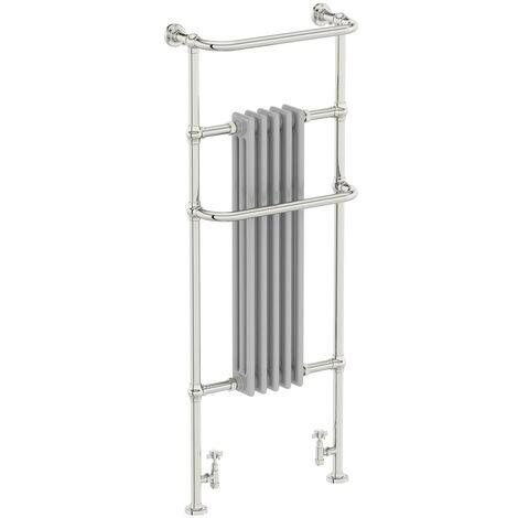 The Heating Co. Santa Fe satin grey traditional radiator 1500 x 599
