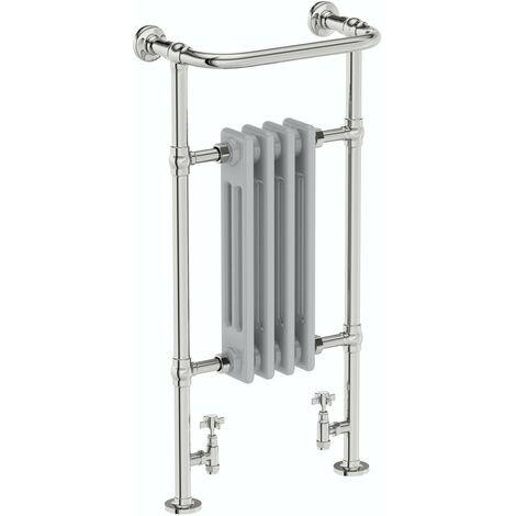 The Heating Co. Santa Fe traditional satin grey radiator 952 x 479