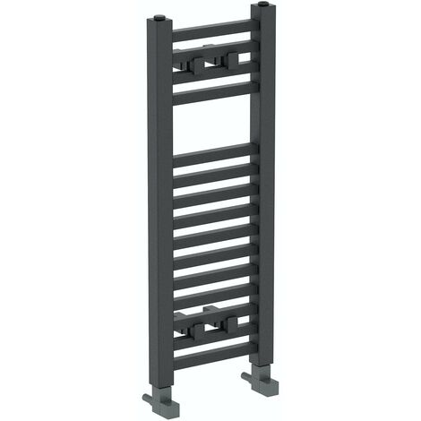 The Heating Co. Santiago anthracite grey heated towel rail 1200 x 490