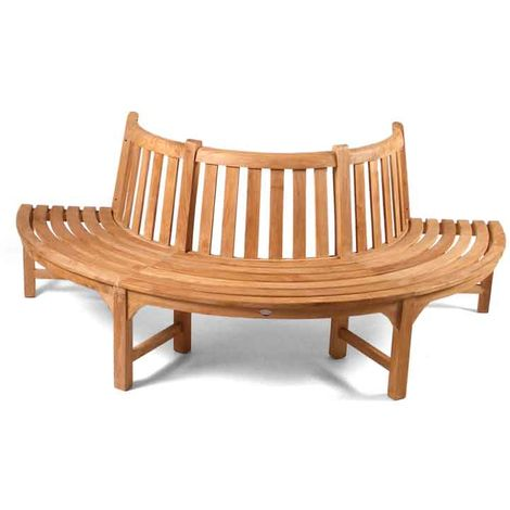 The Large Half Round Teak Tree Seat