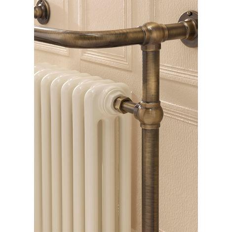 The Radiator Company Chalfont Steel Floor Standing Designer Heated Towel Rail 1500mm x 500mm Antique Bronze