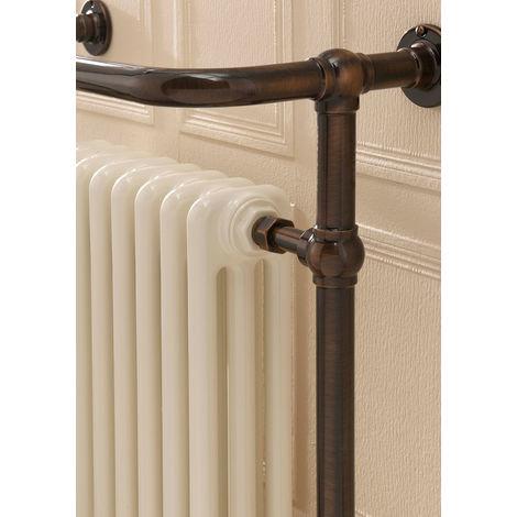 The Radiator Company Chalfont Steel Floor Standing Designer Heated Towel Rail 1500mm x 500mm Antique Copper