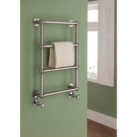 The Radiator Company Chalfont Steel Wall Hung Designer Heated Towel Rail 750mm x 500mm Chrome