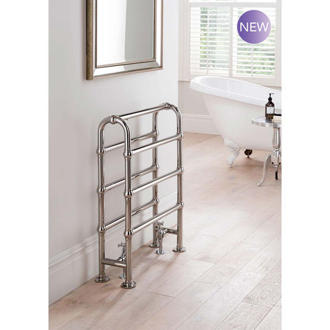 The Radiator Company Lingfield Steel Floor Standing Designer Heated Towel Rail 850mm x 600mm Antique Copper