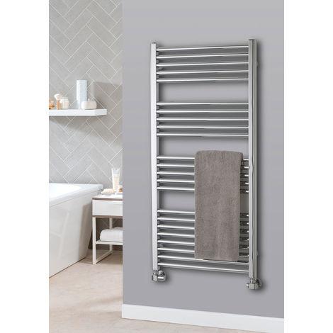 The Radiator Company Lupin Steel Vertical Designer Heated Towel Rail 1210mm x 500mm Chrome