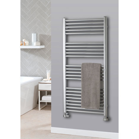 The Radiator Company Lupin Steel Vertical Designer Heated Towel Rail 1210mm x 600mm Chrome