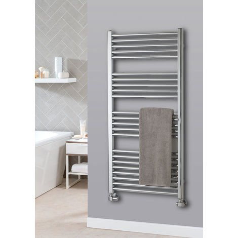 The Radiator Company Lupin Steel Vertical Designer Heated Towel Rail 1497mm x 400mm Chrome