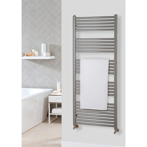The Radiator Company Lupin Steel Vertical Designer Heated Towel Rail 1497mm x 400mm RAL