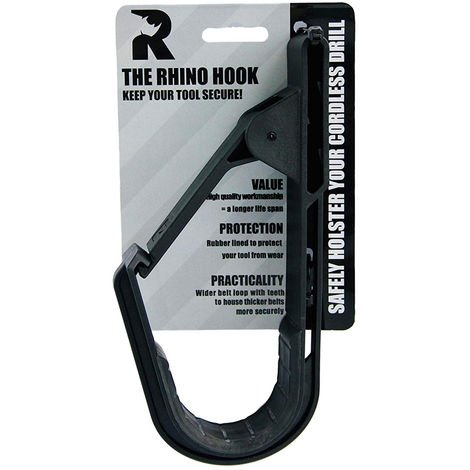 The Rhino Hook Universal Tool Belt Cordless Drill Holder