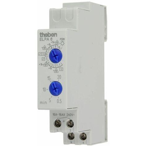 Theben ELPA 6 minuterie d'escalier 230V~,50Hz,0,5-20 min,max.3600 W