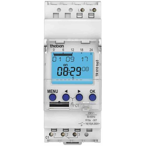 230 V//AC 12.51.8.230.0000 Finder Zeitschaltuhr für Hutschiene Betriebsspannung