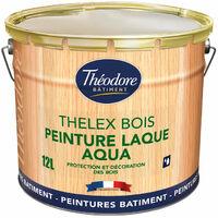 Thelex Bois Aqua : Peinture laque satinée pour la décoration et la protection du bois en intérieur et en extérieur