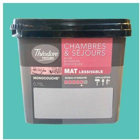 Théodore Peinture Chambres & Séjours Mat Caraibos 0,75 L - Caraibos