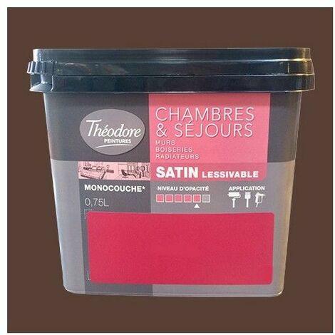Théodore Peinture Chambres & Séjours Satin Bois - 0,75 L