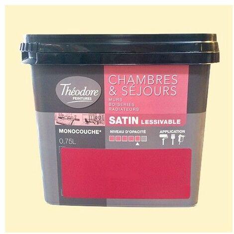 Théodore Peinture Chambres & Séjours Satin Citron frappé - 0,75 L
