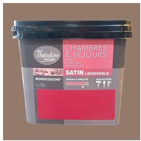 Théodore Peinture Chambres & Séjours Satin Cumin 0,75 L - Cumin