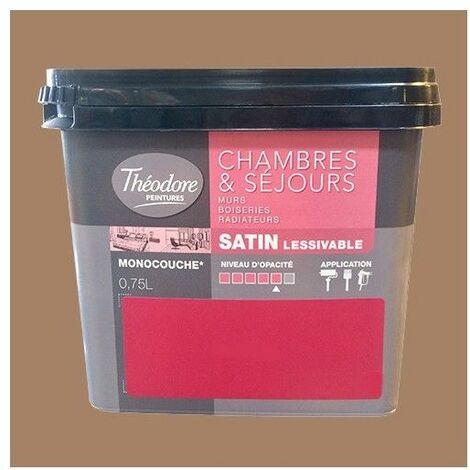 Théodore Peinture Chambres & Séjours Satin Fauve - 0,75 L