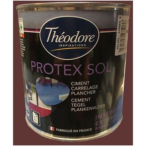 Théodore Peinture Protex Sol Rouge 0,5 L - Rouge