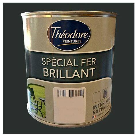 Théodore Peinture Spécial Fer Brillant Noir 0,5 L - Noir