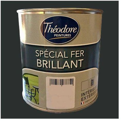Théodore Peinture Spécial Fer Brillant Noir - 2,5 L