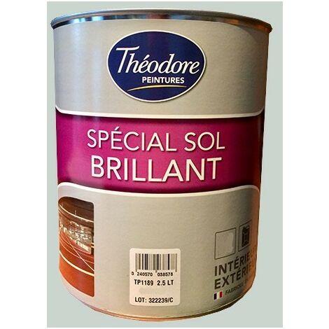 Théodore Peinture Spécial Sol Brillant Gris clair 7035 0,5 L - Gris Clair