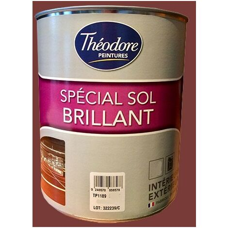 Théodore Peinture Spécial Sol Brillant Rouge 3011 - 0,5 L