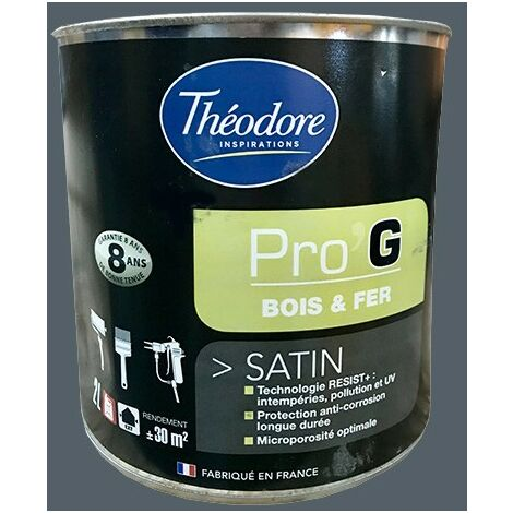 Théodore Pro'G Peinture Bois & Fer Ardoise 0,5 L - Ardoise