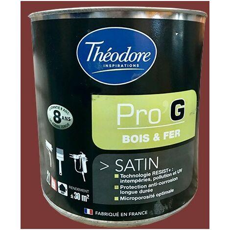 Théodore Pro'G Peinture Bois & Fer Rouge Basque - 0,5 L