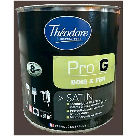 Théodore Pro'G Peinture Bois & Fer Ton bois 2 L - Ton Bois