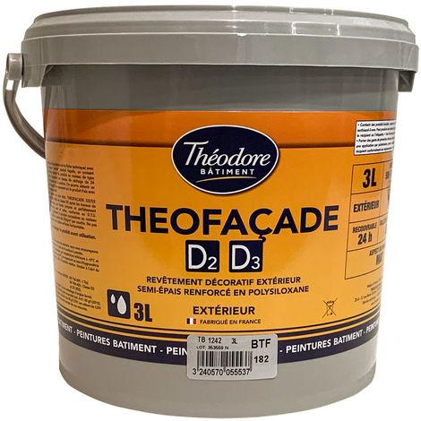 Théofaçade D2/D3 : Peinture ravalement semi-epaisse de protection et décoration des maçonneries et façades
