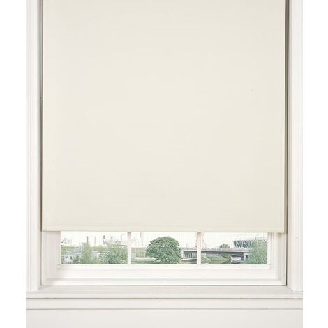 Thermal Blackout Cream 60cms Wide Straight Edged Roller Blind