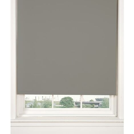 Thermal Blackout Grey 60cms Wide (Approx) Straight Edged Roller Blind