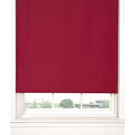 Thermal Blackout Red 60cms Wide Straight Edged Roller Blind