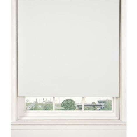 Thermal Blackout White 60cms Wide Straight Edged Roller Blind