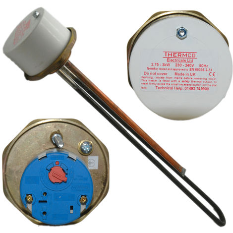 """Thermco - 3kW 1 1/2"""" Boss Immersion Element & Thermostat 340/327 - WSRYP"""
