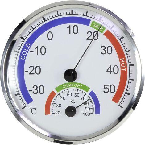 Thermo-hygromètre Basetech BT-TH130A BT-1713921 argent 1 pc(s)
