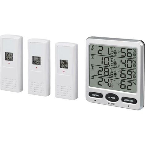 Thermo-hygromètre radiopiloté Renkforce argent
