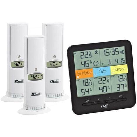 Thermo-hygromètre radiopiloté TFA Dostmann Weatherhub SmartHome System Klima@Home noir
