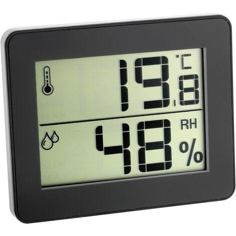 Thermo-hygromètre TFA Dostmann 30.5027.01 noir