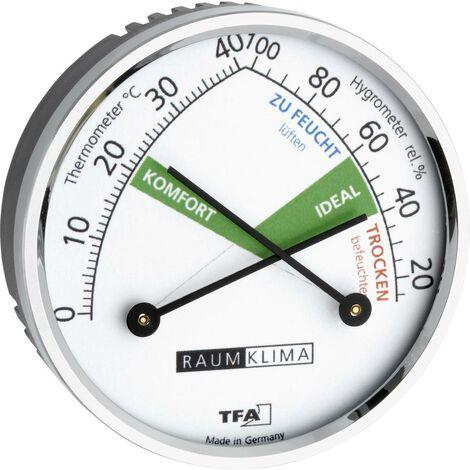 Thermo-hygromètre TFA Dostmann 45.2024 45.2024 argent 1 pc(s)