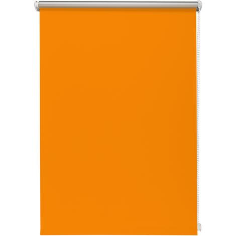 Thermo-Rollo Orange ohne Bohren verschiedene Größen Verdunkelungsrollo Seitenzugrollo Klemmrollo Blackout Silberbeschichtung