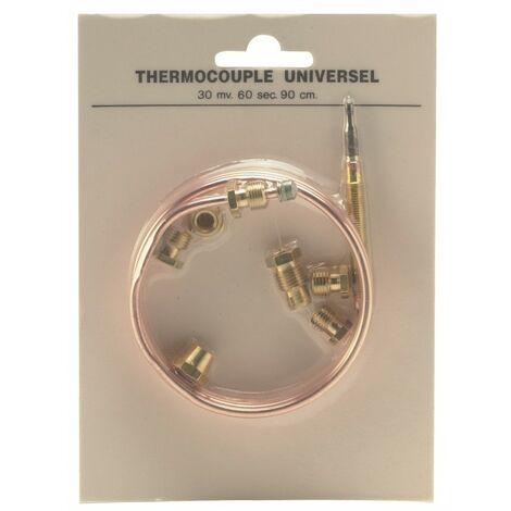 900 mm, Lot de 5 universel kit de thermocouple et fixations