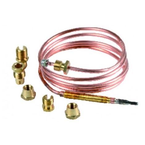 """Thermocouple - Thermocouple 6 fittings lgth 1200mm (M8 - M9 - M10 - 11/32"""" - F6 - compression)"""