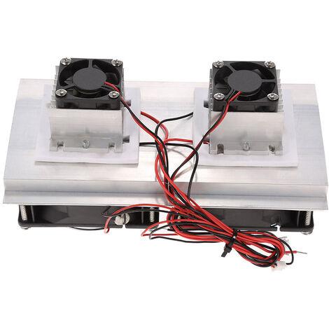 Thermoelectriques A Effet Peltier Systeme De Refroidissement De Refrigeration Kit Semi-Conducteur Glaciere Radiateur A Froid Module De Conduction Double Ventilateurs
