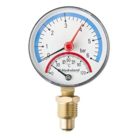 Thermomanometer 120 0-bar thermometer pressure gau